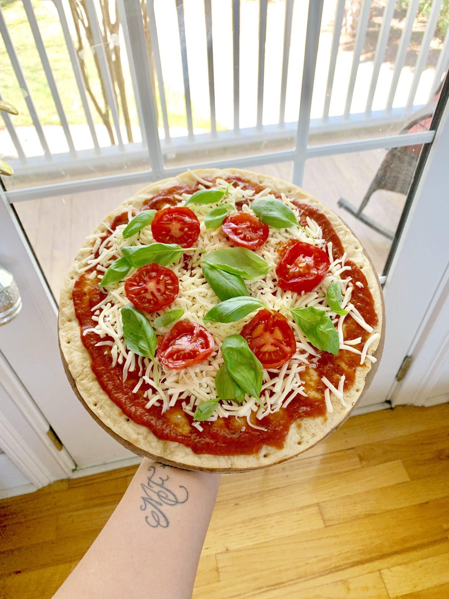 Pizza with Cauliflower Crust!