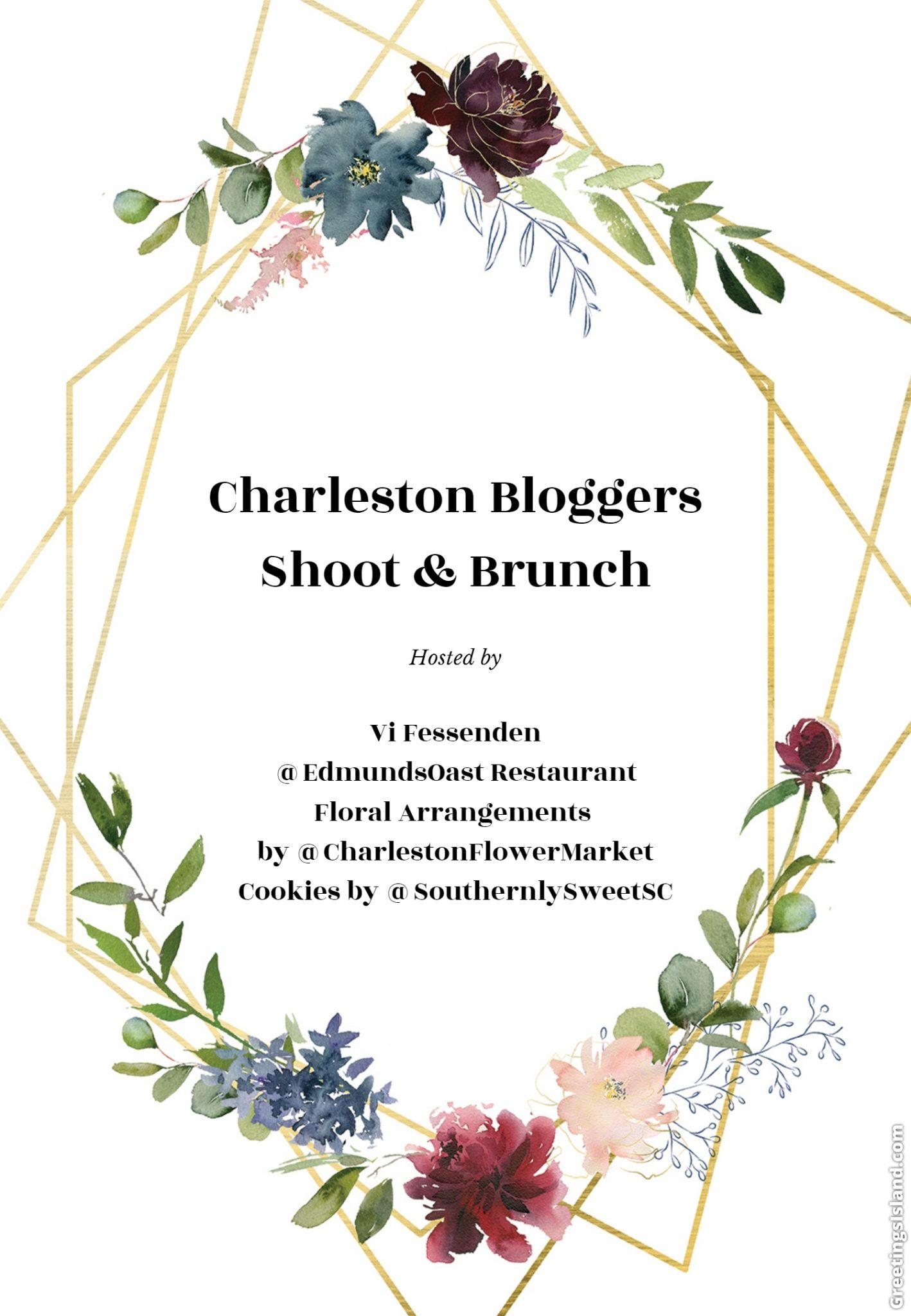 April's Charleston Bloggers Shoot & Brunch Event!